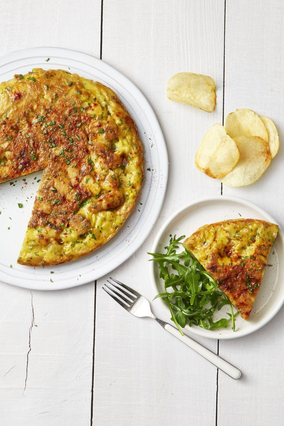 """<p>Proof that salty snacks have a place at your weekend brunch buffet.</p><p><a href=""""https://www.goodhousekeeping.com/food-recipes/a37302/potato-chip-omelet-recipe/"""" rel=""""nofollow noopener"""" target=""""_blank"""" data-ylk=""""slk:Get the recipe for Potato Chip Omelet »"""" class=""""link rapid-noclick-resp""""><em>Get the recipe for Potato Chip Omelet »</em></a></p>"""