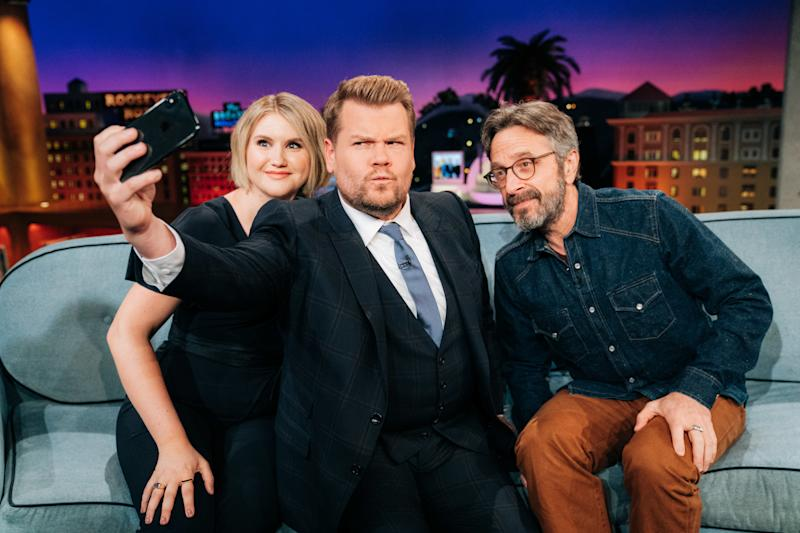 LOS ANGELES - AUGUST 14: The Late Late Show with James Corden airing Wednesday, September 4, 2019, with guests Jillian Bell and Marc Maron. (Photo by Terence Patrick/CBS via Getty Images)