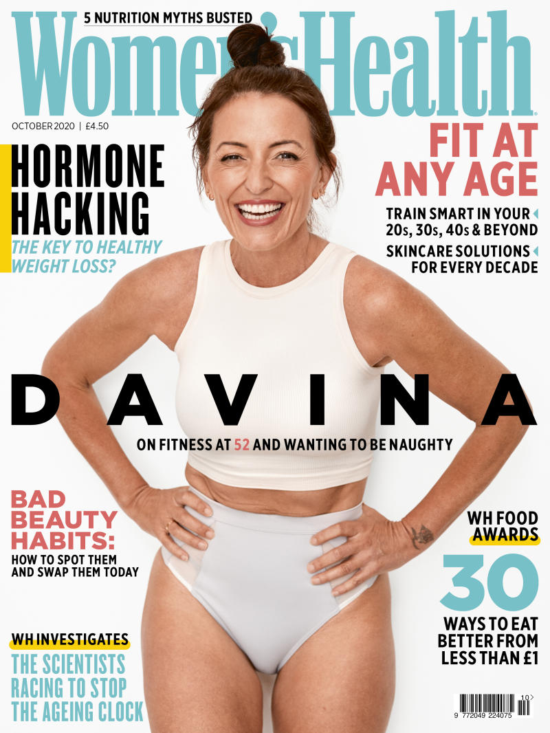 Davina McCall has appeared on the cover of the October Issue of Women's Health magazine. (Ian Harrison/Women's Health)