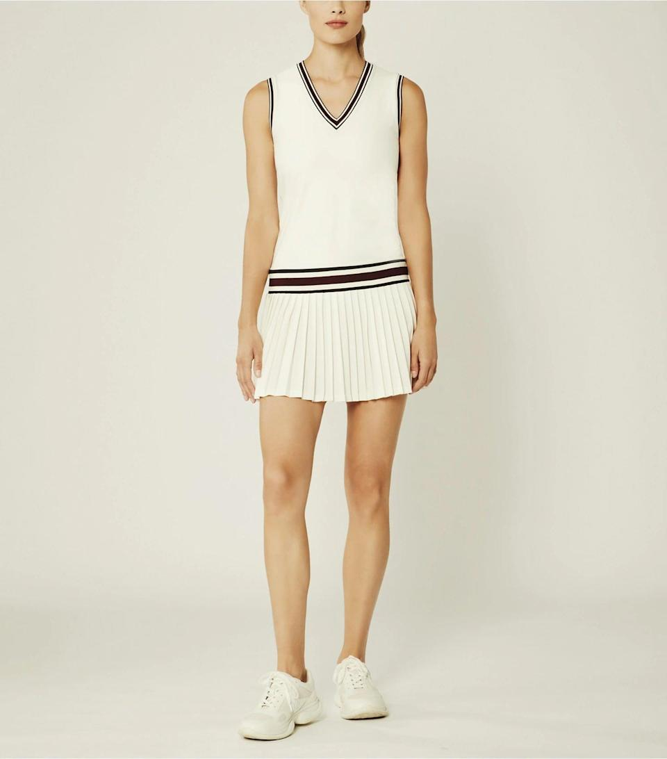 <p>This <span>Tory Sport Performance V-Neck Tennis Dress</span> ($228) is classic and chic.</p>