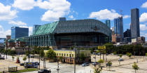 FILE - This Sept. 11, 2016 file photo shows a wide angle view of Minute Maid Park in downtown Houston. Major League Baseball has expanded its investigation into the Houston Astros after The Athletic website reported the team stole signs during home games in 2017 by using a camera positioned in center field. The report Tuesday, Nov. 12, 2019 quoted pitcher Mike Fiers, who played for the Astros that season, and three other unidentified people with the club. The Astros won the World Series that year two sources told The Athletic that Houston used the system into the playoffs while another source said it ended before the postseason. (AP Photo/Juan DeLeon, file)