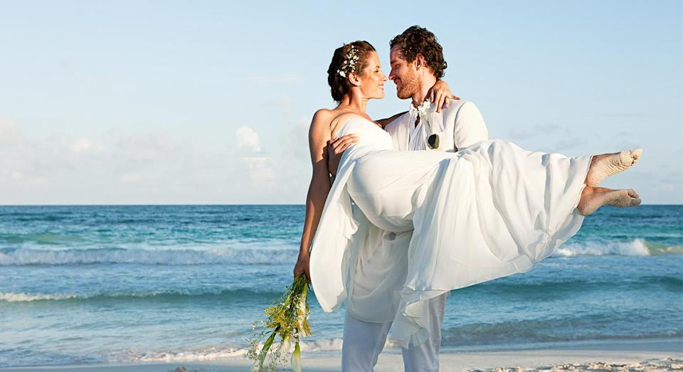 The bride asked her guests to save almost £3,000 for her destination wedding. [Photo: Getty]