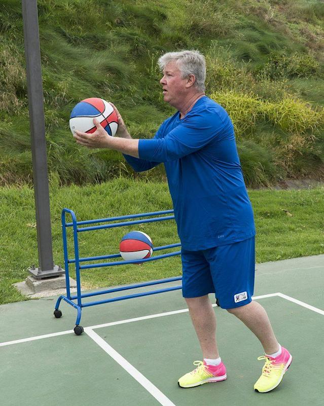 Larry Wilcox on ABC's 'Battle of the Network Stars' (Photo Credit: Byron Cohen/ABC)