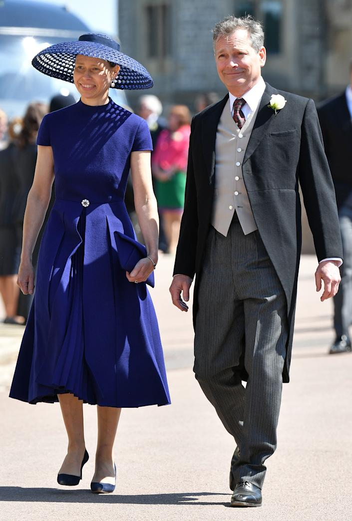 WINDSOR, UNITED KINGDOM - MAY 19: (EMBARGOED FOR PUBLICATION IN UK NEWSPAPERS UNTIL 24 HOURS AFTER CREATE DATE AND TIME) Lady Sarah Chatto and Daniel Chatto attend the wedding of Prince Harry to Ms Meghan Markle at St George's Chapel, Windsor Castle on May 19, 2018 in Windsor, England. Prince Henry Charles Albert David of Wales marries Ms. Meghan Markle in a service at St George's Chapel inside the grounds of Windsor Castle. Among the guests were 2200 members of the public, the royal family and Ms. Markle's Mother Doria Ragland. (Photo by Pool/Max Mumby/Getty Images)