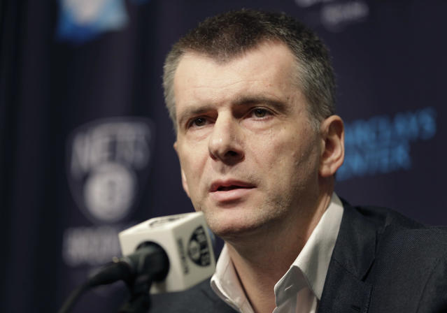 Mikhail Prokhorov stands accused of paying hush money to keep the Russian doping scandal quiet. (AP)