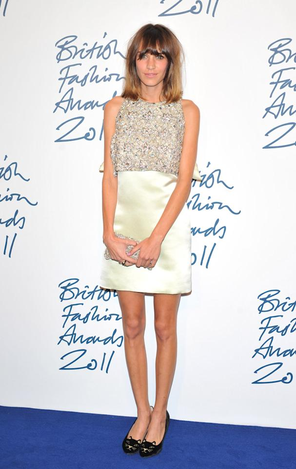 Alexa Chung, it's no wonder you picked up the British Style Award looking like that. Bravo.