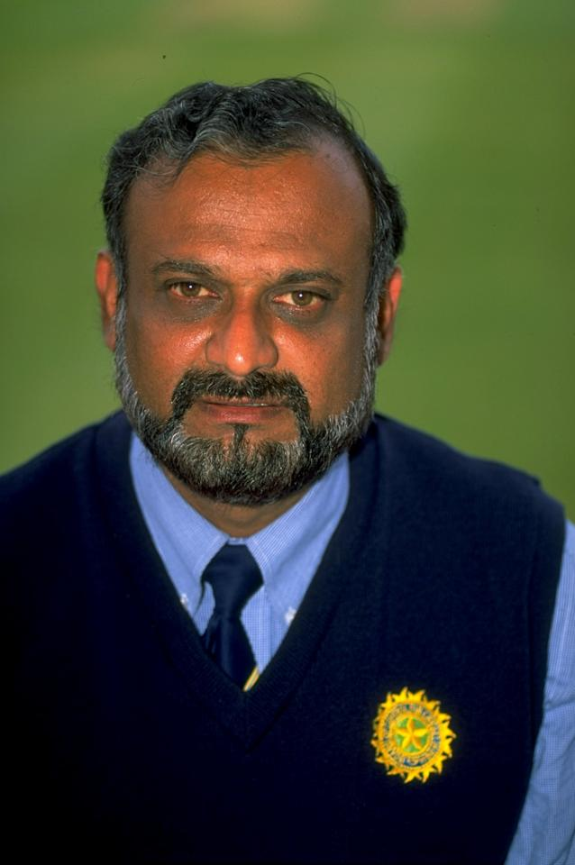 May 1999:  Portrait of India manager Brijesh Patel. \ Mandatory Credit: Stu Forster /Allsport