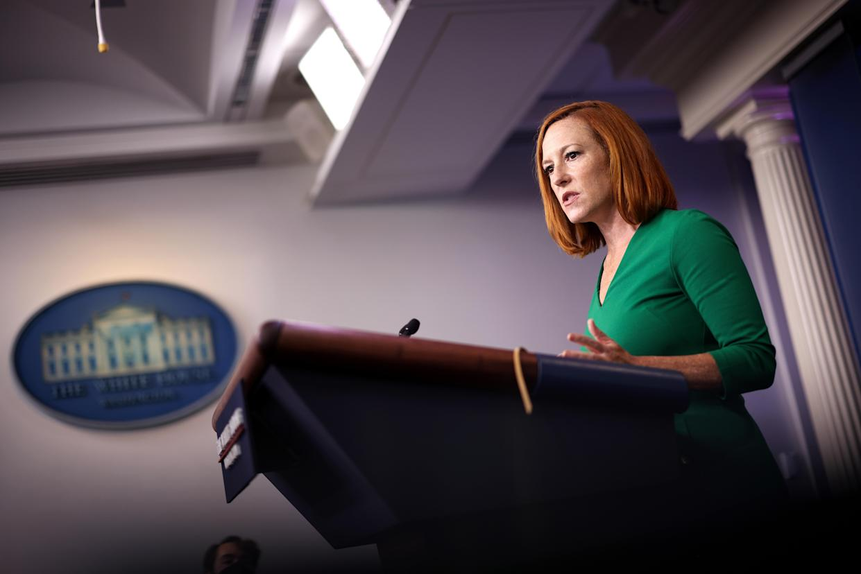 White House Press Secretary Jen Psaki speaks during a press briefing at the White House on September 09, 2021 in Washington, DC. (Kevin Dietsch/Getty Images)