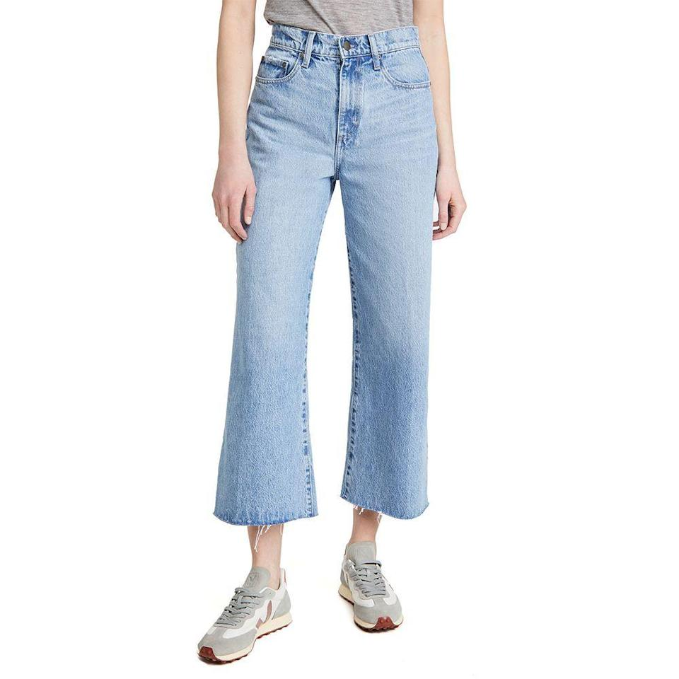 """<p><strong>Nobody Denim </strong></p><p>shopbop.com</p><p><a href=""""https://go.redirectingat.com?id=74968X1596630&url=https%3A%2F%2Fwww.shopbop.com%2Fskylar-jean-ankle-nobody-denim%2Fvp%2Fv%3D1%2F1595758444.htm&sref=https%3A%2F%2Fwww.elle.com%2Ffashion%2Fshopping%2Fg36080635%2Fshopbop-spring-sale%2F"""" rel=""""nofollow noopener"""" target=""""_blank"""" data-ylk=""""slk:Shop Now"""" class=""""link rapid-noclick-resp"""">Shop Now</a></p><p><strong><del>$280</del> $238 (15% off)</strong></p><p>Light wash jeans from Australian brand Nobody Denim have a Tik Tok-approved wide leg shape and are wildly comfortable. (Editor's note: I own these and can be caught wearing them at least once a week.) </p>"""