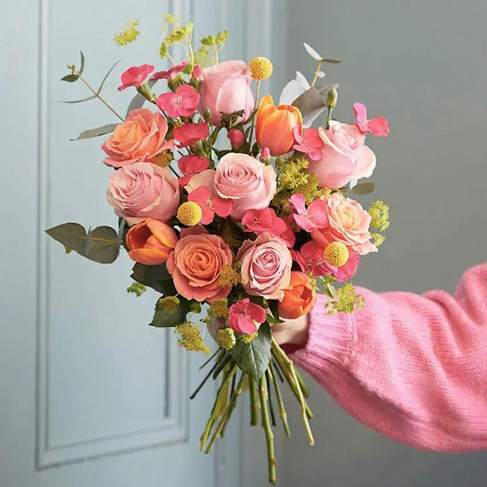 "<p>Brighten up their day with a gorgeous bunch of blooms. A <a href=""https://www.goodhousekeeping.com/uk/house-and-home/g30594435/letterbox-flowers/"" target=""_blank"">flower delivery</a> from somewhere like Bloom & Wild is sure to make them smile, whether it's for a birthday treat or just a pick-me-up. </p><p><a class=""body-btn-link"" href=""https://go.redirectingat.com?id=127X1599956&url=https%3A%2F%2Fwww.bloomandwild.com%2Fsend-flowers&sref=https%3A%2F%2Fwww.goodhousekeeping.com%2Fuk%2Flifestyle%2Fg32220679%2Fgift-ideas-for-friends%2F"" target=""_blank"">BUY NOW</a></p>"