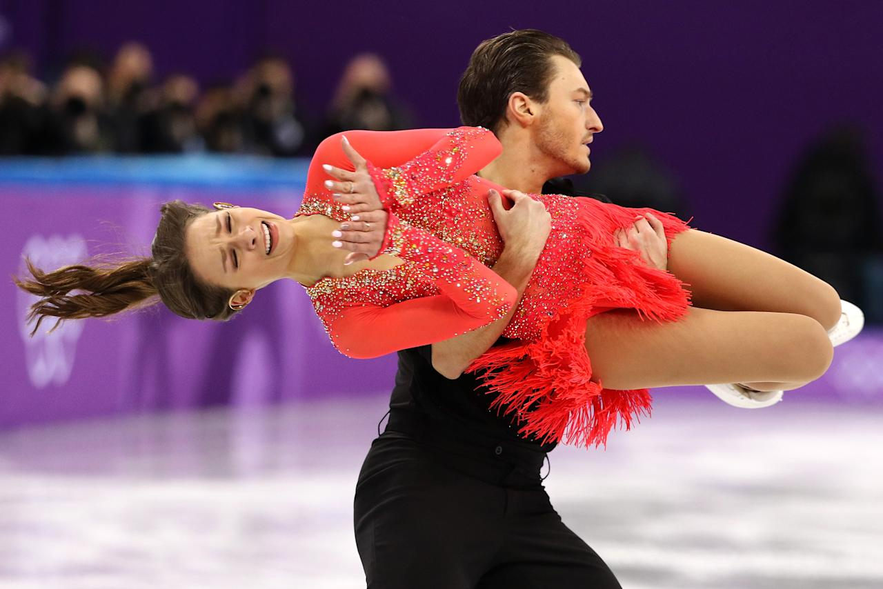 <p>Kavita Lorenz and Joti Polizoakis of Germany compete in the Figure Skating Team Event – Ice Dance – Short Dance on day two of the PyeongChang 2018 Winter Olympic Games at Gangneung Ice Arena on February 11, 2018 in Gangneung, South Korea. (Photo by Maddie Meyer/Getty Images) </p>