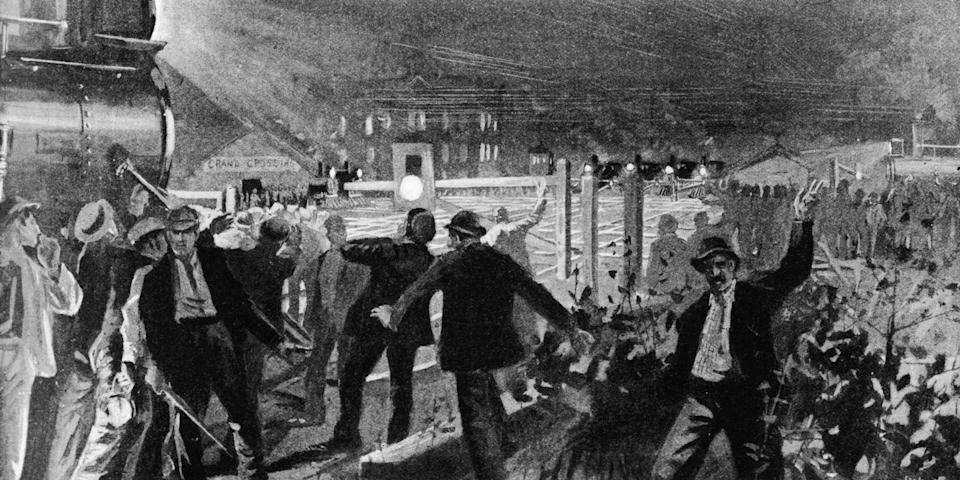 """<p>The <a href=""""https://www.britannica.com/event/Pullman-Strike"""" rel=""""nofollow noopener"""" target=""""_blank"""" data-ylk=""""slk:Encyclopedia Britannica"""" class=""""link rapid-noclick-resp"""">Encyclopedia Britannica</a> says the massive Pullman Strike happened in the summer of 1894, when workers boycotted the railroads to fight for safe conditions, normal schedules, and living wages. To honor the labor movement after this, President Grover Cleveland officially declared Labor Day a national holiday, according to <a href=""""https://www.history.com/topics/holidays/labor-day"""" rel=""""nofollow noopener"""" target=""""_blank"""" data-ylk=""""slk:History.com"""" class=""""link rapid-noclick-resp"""">History.com</a>.</p>"""