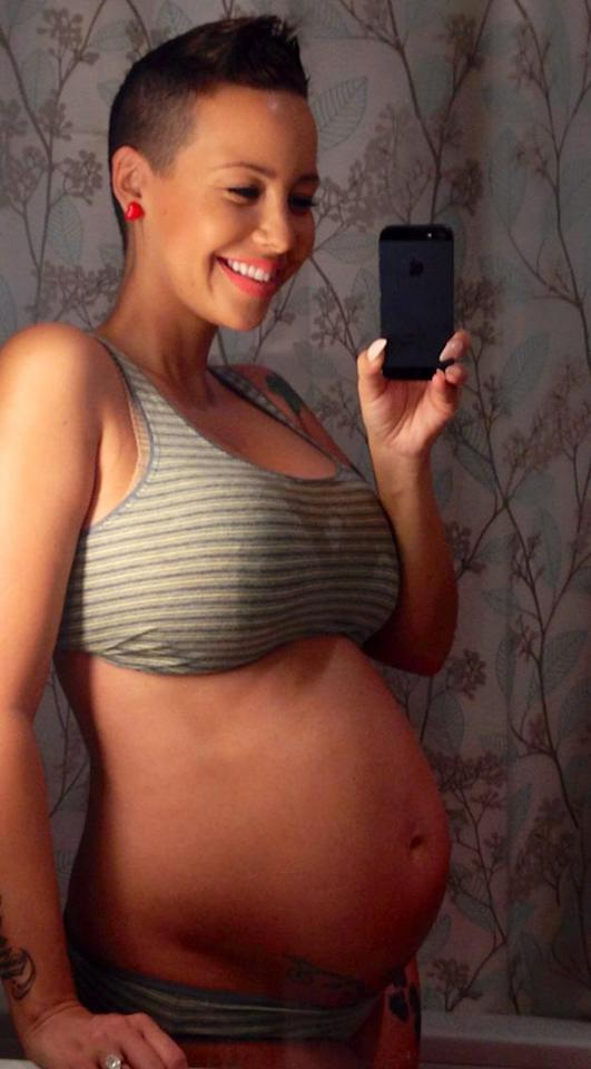 "Amber Rose went on a bare belly selfie spree when she was pregnant. This <a href=""https://twitter.com/DaRealAmberRose/status/274949875001597952/photo/1"" target=""_blank"">shot</a>, which was taken last December, was at the 28-week mark. In February, son Sebastian was born."
