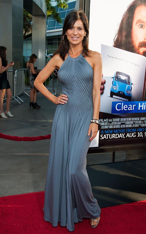 "HOLLYWOOD, CA - JULY 31: Perrey Reeves arrives at the Premiere Of HBO Films' ""Clear History"" at ArcLight Cinemas Cinerama Dome on July 31, 2013 in Hollywood, California. (Photo by Valerie Macon/Getty Images)"