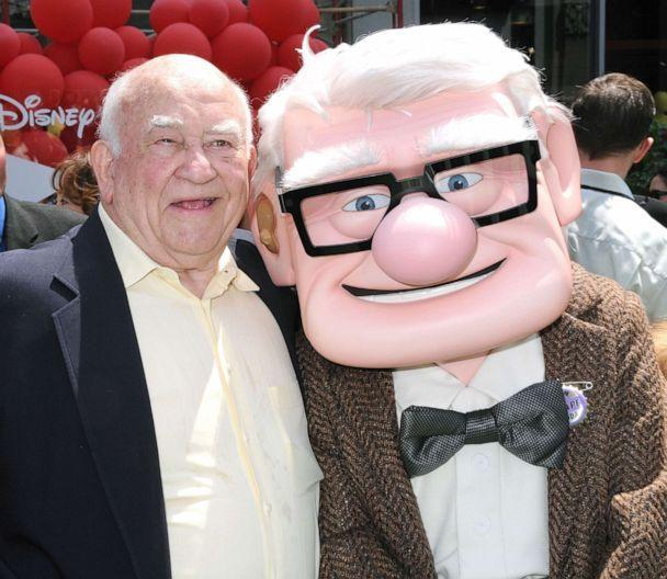 PHOTO: Actor Ed Asner arrives to the Los Angeles premiere of 'Up' held at the El Capitan Theatre, May 16, 2009, in Hollywood, Calif. Asner provided the voice of main character Carl Fredricksen, right, in the Disney-Pixar animated movie. (Barry King/FilmMagic/Getty Images)