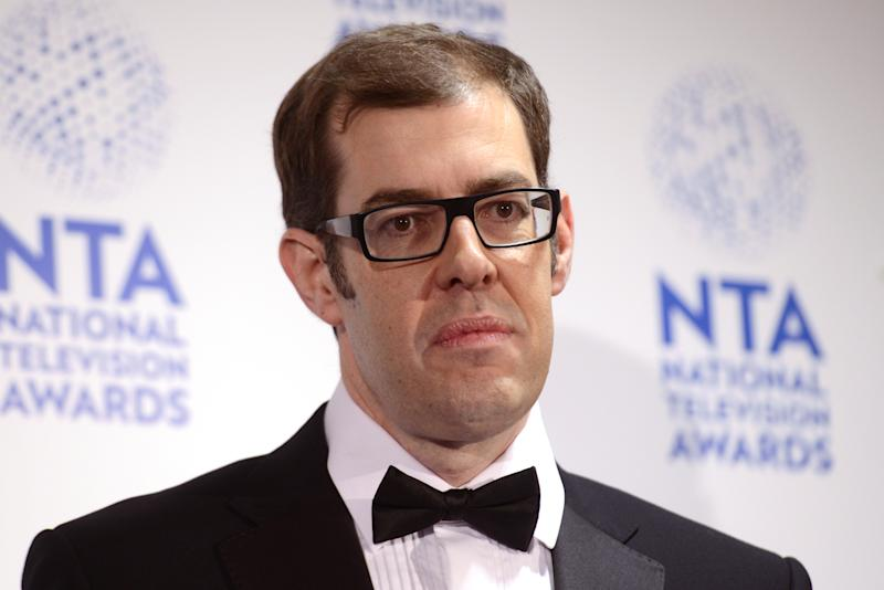 LONDON, ENGLAND - JANUARY 23: Richard Osman poses in front of the winners boards at the National Television Awards 2013 at The O2 Arena on January 23, 2013 in London, England. (Photo by Dave J Hogan/Getty Images)