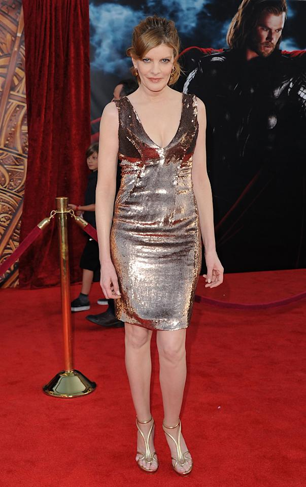 """<a href=""""http://movies.yahoo.com/movie/contributor/1800019114"""">Rene Russo</a> attends the Los Angeles premiere of <a href=""""http://movies.yahoo.com/movie/1810026342/info"""">Thor</a> on May 2, 2011."""