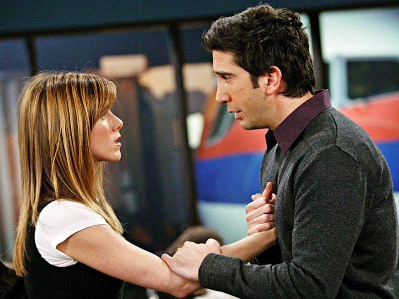 On-off: Ross and Rachel in 'Friends'