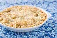 """Oats, brown sugar, and walnuts team up with cinnamon and cloves in the terrific streusel topping for this homespun treat. <a href=""""https://www.epicurious.com/recipes/food/views/apple-rhubarb-crisp-1568?mbid=synd_yahoo_rss"""" rel=""""nofollow noopener"""" target=""""_blank"""" data-ylk=""""slk:See recipe."""" class=""""link rapid-noclick-resp"""">See recipe.</a>"""