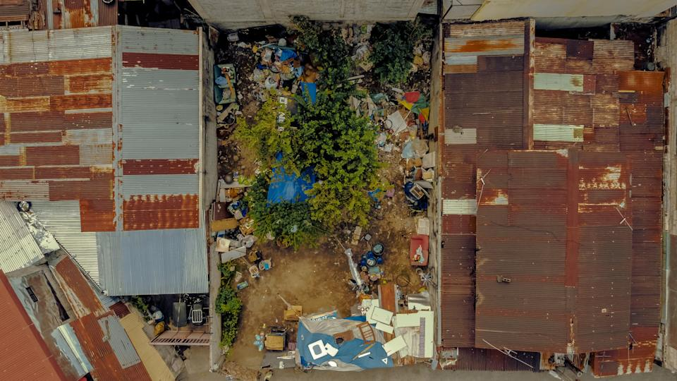 An aerial view of the shack where Rommel and Rosalyn's family live. (Photo reproduced with permission from Rab4Love Studios)