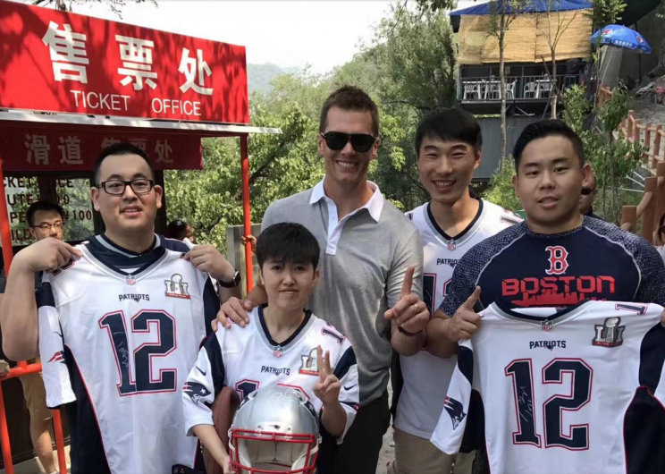 Tom Brady meets Patriots fans in China. (via Patriots)