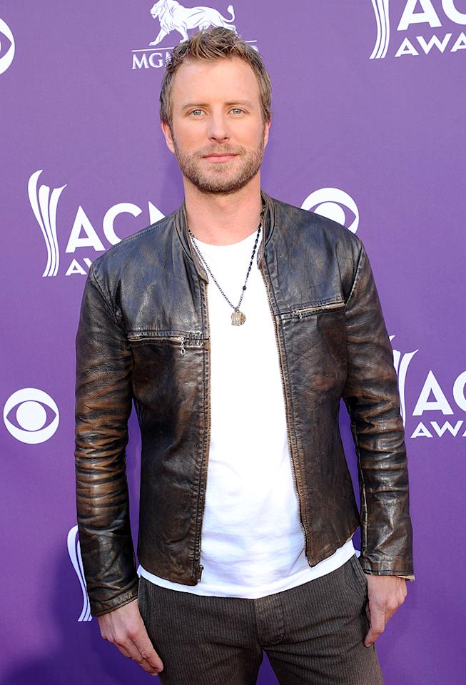 "<p class=""MsoNormal"">Dierks Bentley, whose tune ""Home"" was up for Song of the Year, looked a little bit rock and roll in his leather jacket. </p>"