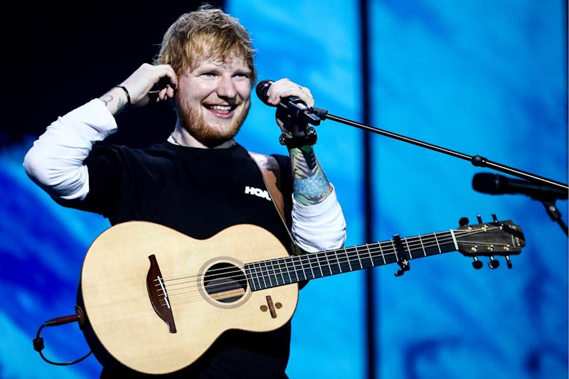MOSCOW, RUSSIA - JULY 19, 2019: British singer-songwriter Ed Sheeran gives a concert at Otkritie Arena during his world tour. Sergei Bobylev/TASS (Photo by Sergei Bobylev\TASS via Getty Images)