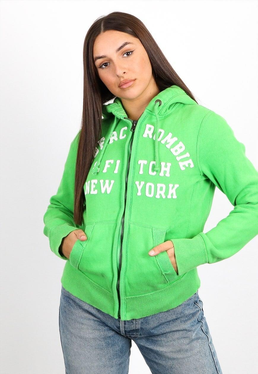 <p><span>Vintage Abercrombie and Fitch Zip Hoodie in Green</span> ($66)</p>