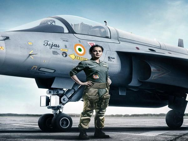 Actor Kangana Ranaut in poster of 'Tejas' (Image Source: Twitter)
