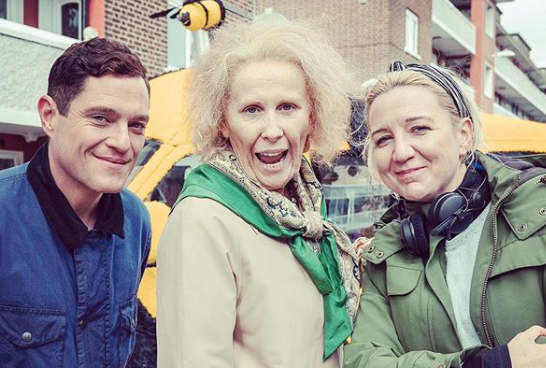 Catherine Tate as Nan with Mathew Horne and Josie Rourke (Credit: Instagram)