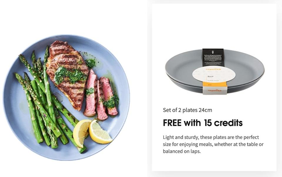 Plastic plate available as part of the Coles promotion.
