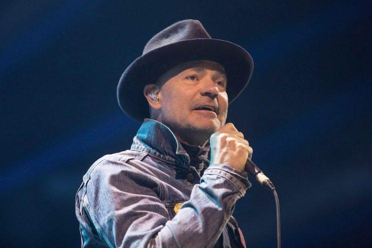 Gord Downie performs at WE Day in Toronto on Oct. 19, 2016. Photo from The Canadian Press.