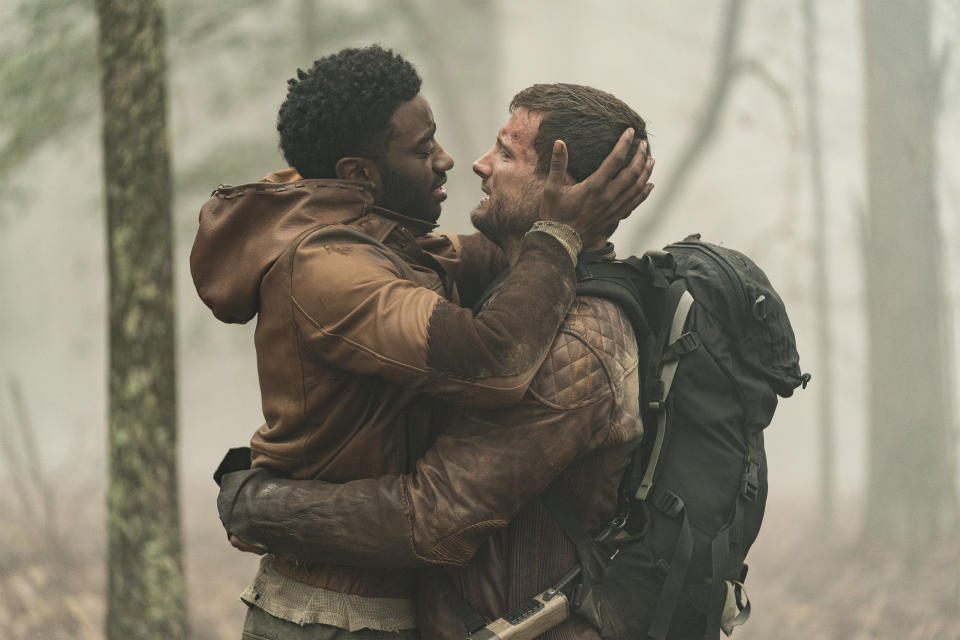 Jelani Alladin and Nico Tortorella portray a gay couple in 'The Walking Dead: World Beyond' (Photo Credit: Macall Polay/AMC)