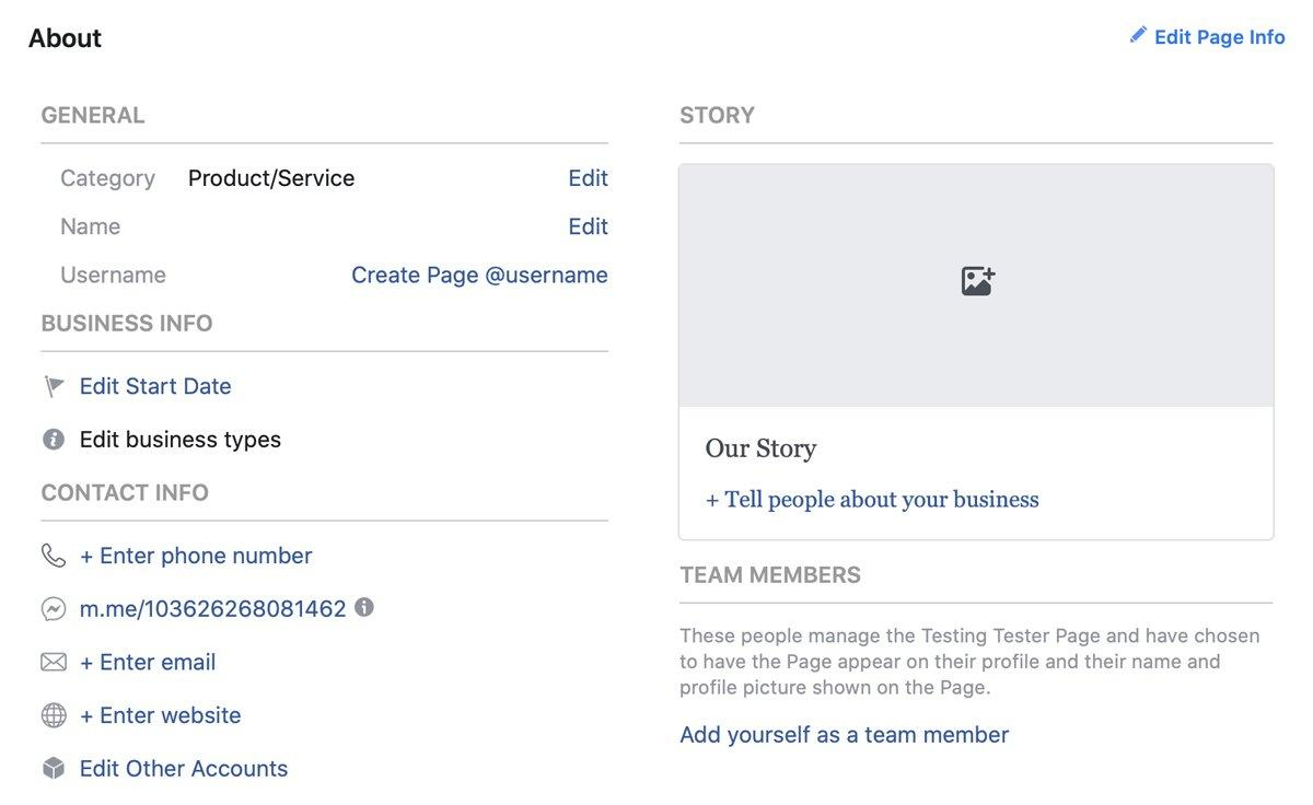 "The ""About"" section on your business profile page gives people a snapshot of what your business does."