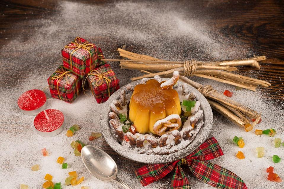 "<p>It only makes sense that Arizonans would love a good Christmas flan: With such a huge Latin American influence, the dessert is everywhere around the end of the year.</p><p>Get the <a href=""https://www.delish.com/cooking/recipe-ideas/a27104074/easy-flan-recipe/"" rel=""nofollow noopener"" target=""_blank"" data-ylk=""slk:recipe"" class=""link rapid-noclick-resp"">recipe</a>.</p>"