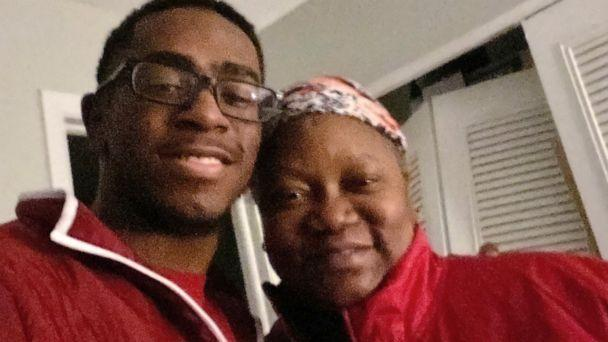 PHOTO: Dr. Susan Moore poses in this undated photo with her 19-year-old son, Henry Muhammed. Moore died on Dec. 20, 2020, of complications from COVID-19, after posting a video complaining she was treated improperly due to her race. (Courtesy Henry Muhammed)