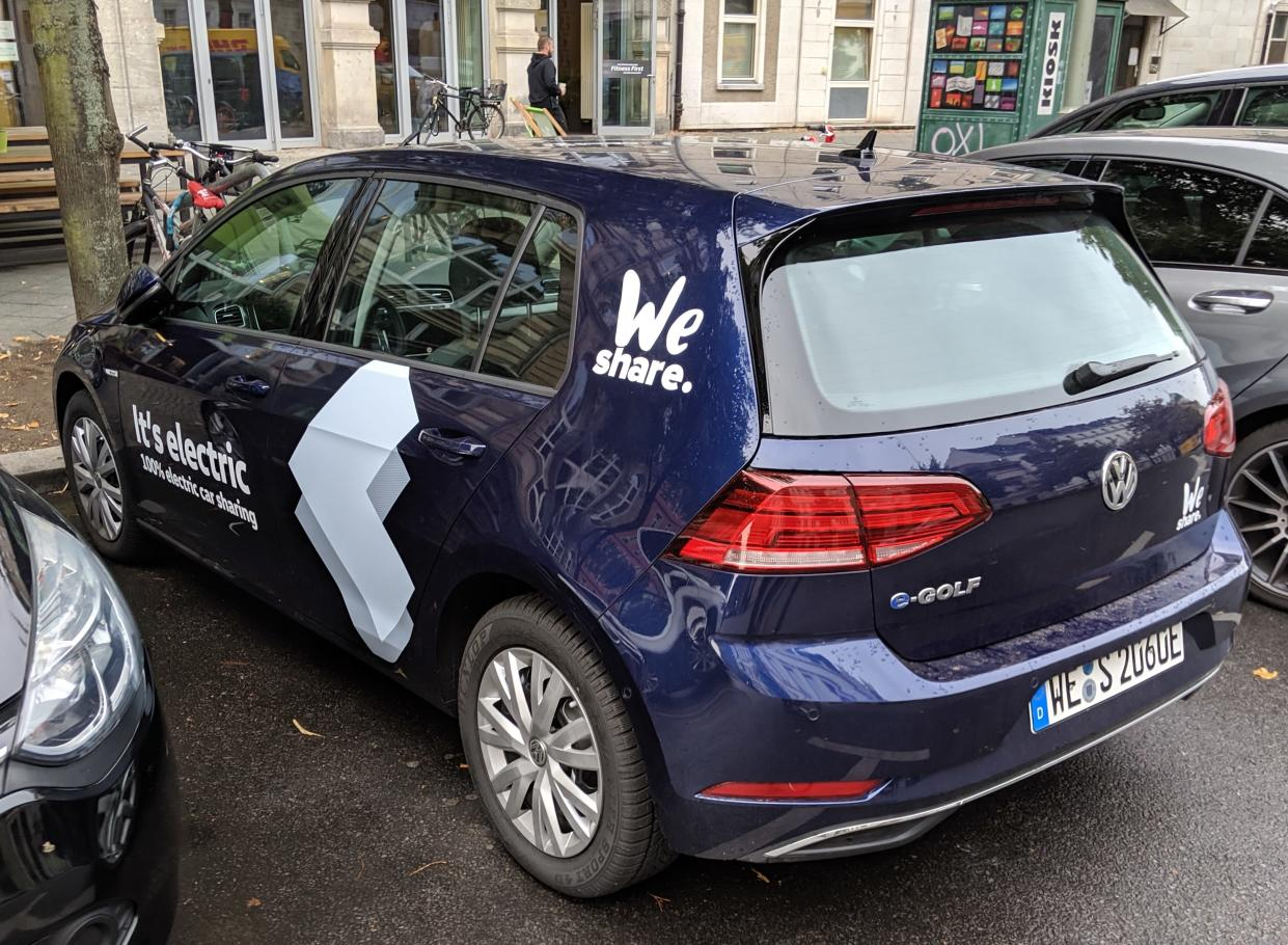 Volkswagen's foray into car sharing. (Yahoo Finance)