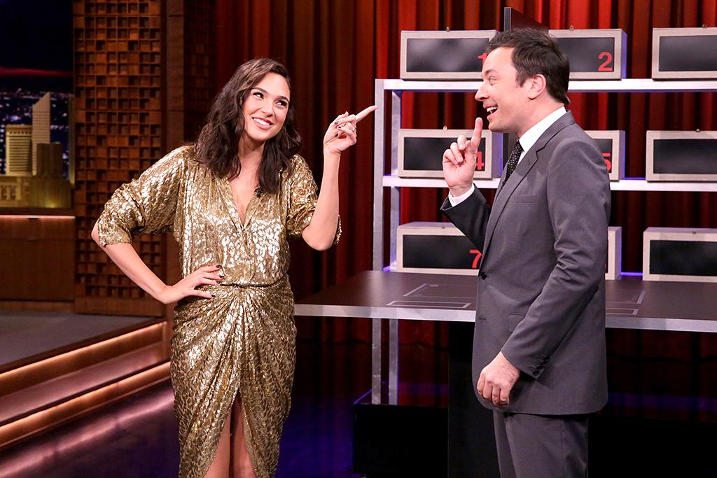 "<p>The actress dazzled in a shimmering Michael Kors dress during an appearance on <i>The Tonight Show Starring Jimmy Fallon</i>, during which she handily won a game of ""Box of Lies."" (Photo: Andrew Lipovsky/NBC/NBCU Photo Bank via Getty Images) </p>"