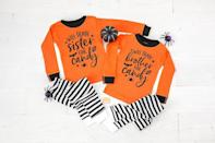 """<p><strong>TwinkleTwinkleTees</strong></p><p>etsy.com</p><p><strong>$54.99</strong></p><p><a href=""""https://go.redirectingat.com?id=74968X1596630&url=https%3A%2F%2Fwww.etsy.com%2Flisting%2F724959326%2Fwill-trade-brother-sister-for-candy&sref=https%3A%2F%2Fwww.thepioneerwoman.com%2Fholidays-celebrations%2Fg36973547%2Fmatching-halloween-pajamas%2F"""" rel=""""nofollow noopener"""" target=""""_blank"""" data-ylk=""""slk:Shop Now"""" class=""""link rapid-noclick-resp"""">Shop Now</a></p><p>These hilarious, high-quality PJs read, """"Will Trade Brother/Sister for Candy"""" and are available in sizes ranging from 6 months to 5-6 years. Note that each set comes with two outfits.</p>"""