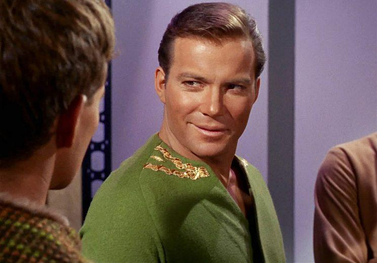 William Shatner as James T. Kirk (Photo by CBS via Getty Images)
