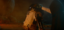 """<p>Perhaps inspired by the rumors at <a href=""""http://makingstarwars.net/2014/11/star-wars-episode-vii-state-luke-skywalker/"""" rel=""""nofollow noopener"""" target=""""_blank"""" data-ylk=""""slk:Making Star Wars"""" class=""""link rapid-noclick-resp"""">Making Star Wars</a> that after his powers grew, Luke had become """"deranged… creepy and frightening,"""" <a href=""""http://www.vulture.com/2015/10/why-people-think-luke-skywalker-is-evil-now.html"""" rel=""""nofollow noopener"""" target=""""_blank"""" data-ylk=""""slk:popular fan theories"""" class=""""link rapid-noclick-resp"""">popular fan theories</a> begin to suggest that our one-time hero would turn out to be the film's main villain. Though we only meet him briefly at the end, that thankfully doesn't appear to be the case. (Photo: Screenshot/Lucasfilm)</p>"""