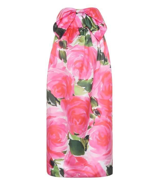 """<p>Richard Quinn Floral Satin Dress, $1,752 (from $2,920), <a href=""""https://rstyle.me/+dmFAwr5YHB57s0gRMkVdhw"""" rel=""""nofollow noopener"""" target=""""_blank"""" data-ylk=""""slk:available here"""" class=""""link rapid-noclick-resp"""">available here</a> (sizes 4-8)</p>"""