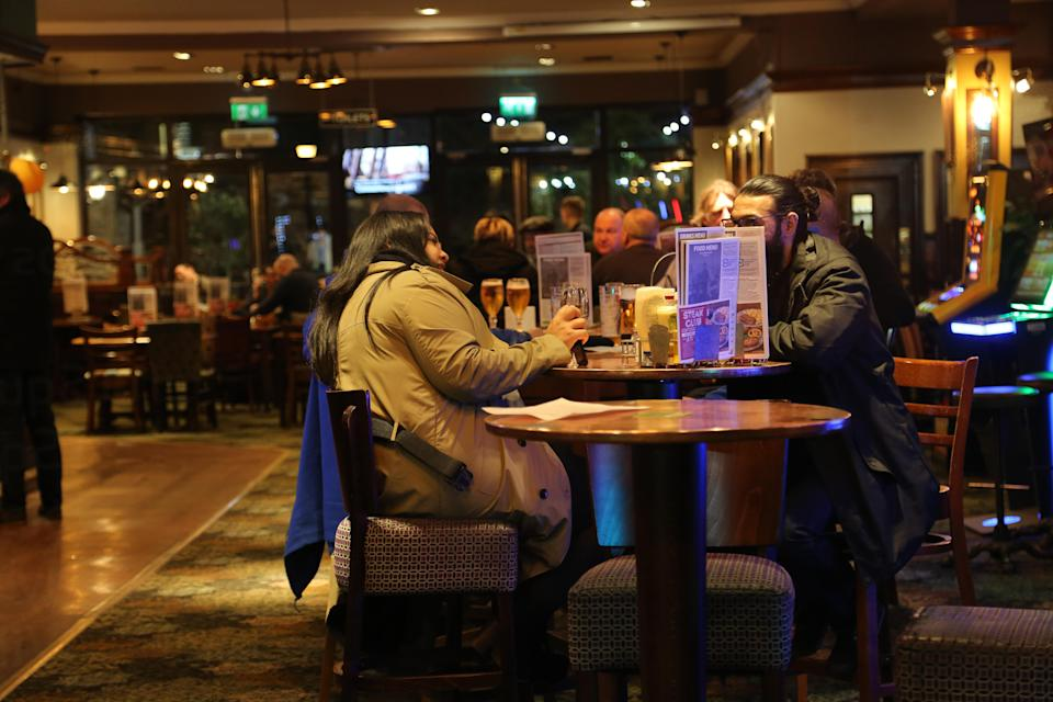 Visitors to a Wetherspoons in Birmingham went the day after Boris Johnson advised to keep away. (SWNS)