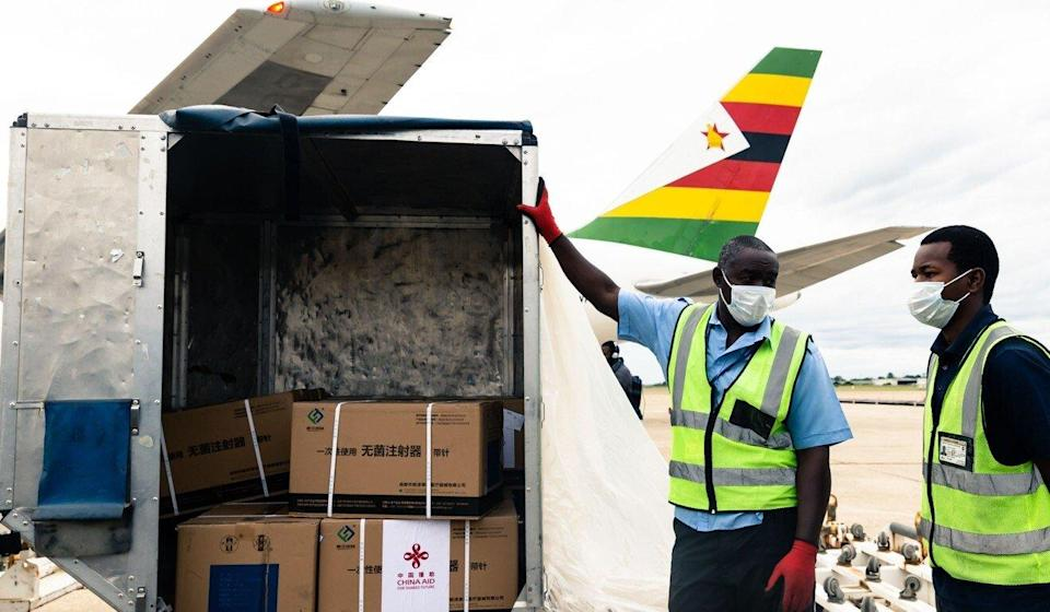 Wu Peng, director of the Chinese foreign ministry's Africa department, says China has provided vaccines to nearly 40 African countries. Photo: AFP