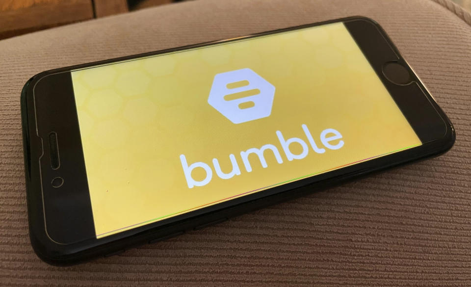 Image of Bumble, the dating and networking service, app as they slam MAFS star