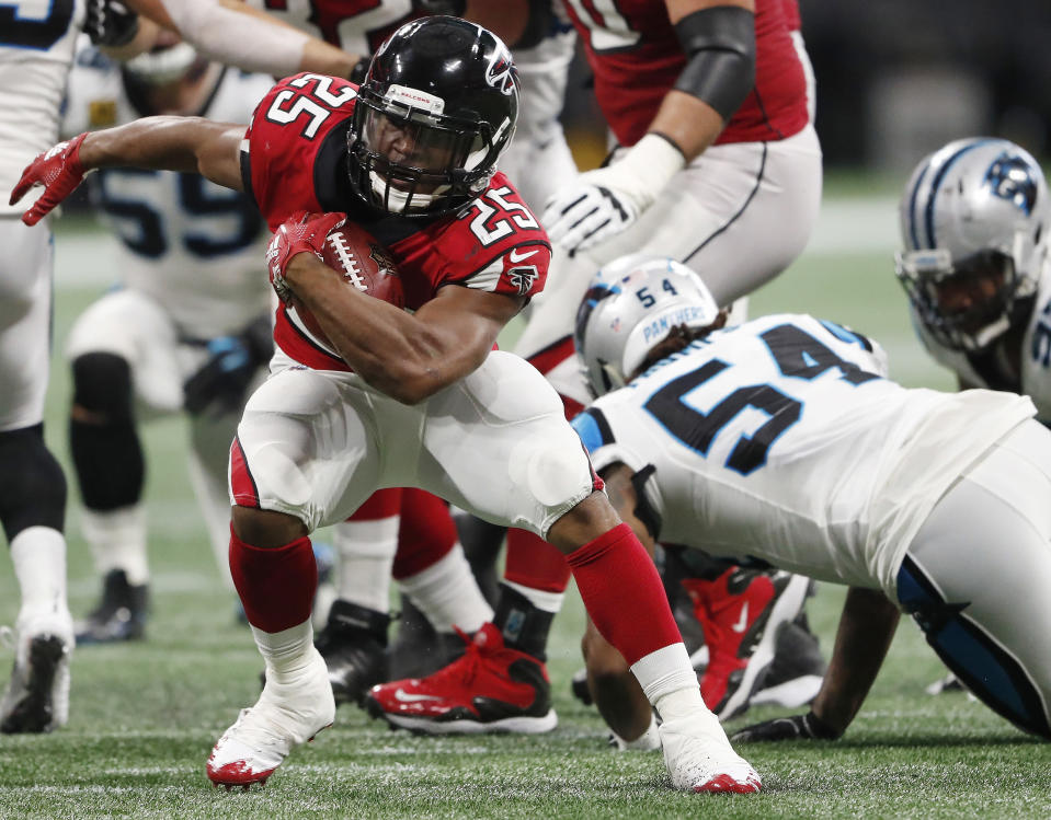 Ito Smith has been a force at the goal-line and he can now expect to see consistent touches. (AP Photo/John Bazemore)