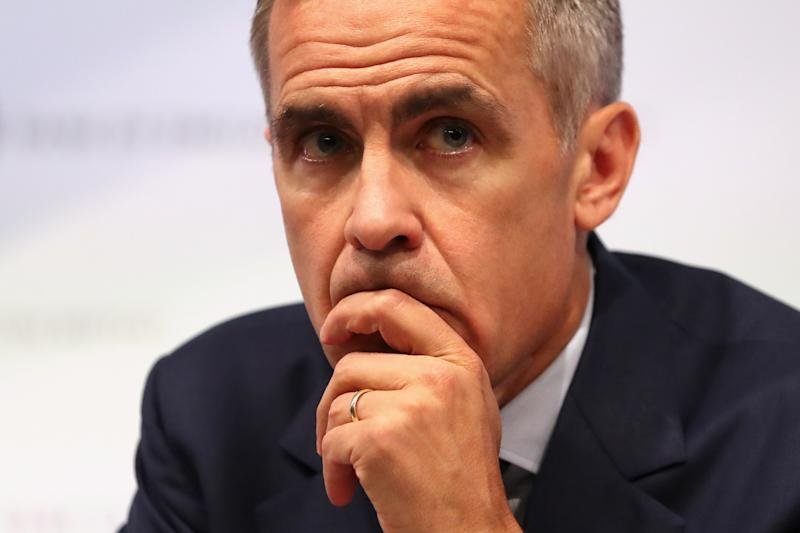 Bank of England Governor, Mark Carney, speaks during the central bank's quarterly Inflation Report press conference in London, Britain August 2, 2018. Daniel Leal-Olivas/Pool via Reuters