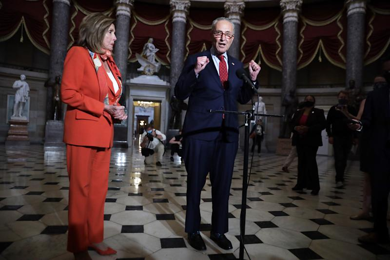 Congressional leaders are sounding more pessimistic about reaching a deal on another round of coronavirus relief. (Photo by Alex Wong/Getty Images) (Alex Wong via Getty Images)