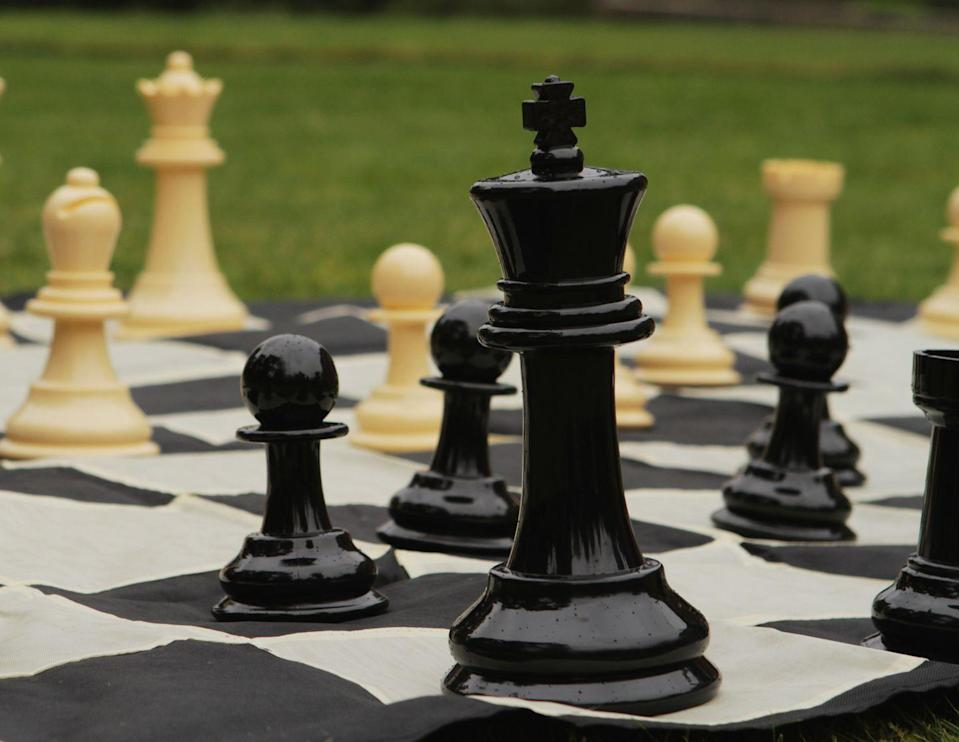 """<p>Bring the game of chess to life with this outdoor set.<br></p><p><strong>Large Chess Set by Uber Games, £45, Notonthehighstreet</strong></p><p><a href=""""https://www.notonthehighstreet.com/ubergames/product/large-chess-set"""" rel=""""nofollow noopener"""" target=""""_blank"""" data-ylk=""""slk:BUY NOW"""" class=""""link rapid-noclick-resp"""">BUY NOW</a></p>"""