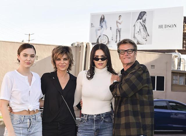 <p>Family first! The whole Hamlin brood came out the celebrate their youngest, as Amelia's new Hudson Jeans billboard was unveiled in West Hollywood on Tuesday. The 16-year-old can be seen rocking multiple pieces from the clothing line, front and center on Santa Monica Blvd. (Photo: Rodin Eckenroth/Getty Images) </p>